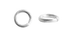 Nunn Design Sterling Silver (plated) Etched Jump Ring 12mm