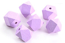 Lavender Wood Faceted Nugget 20mm