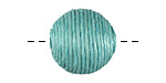 Sea Green Thread Wrapped Bead 18mm
