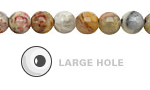 Crazy Lace Agate Round (Large Hole) 8mm