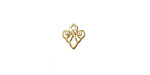 Amoracast 14K Gold (plated) Sterling Silver Deco Scroll 7x8mm