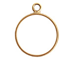 Nunn Design Antique Gold (plated) Beaded Large Open Circle Pendant 25x30mm