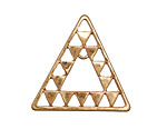 Zola Elements Matte Gold (plated) Concentric Triangle Focal Link 30x30mm