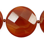 Carnelian (natural) Faceted Coin 35mm