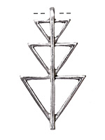 Zola Elements Silver (plated) Triple Triangle Stack Pendant