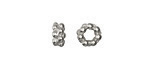 Vintaj Antique Sterling Silver (plated) Dotted Spacer 8mm