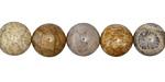 Fossil Jasper Round 10mm