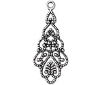 Zola Elements Antique Silver Finish Tiered Boho Drop 18x41mm