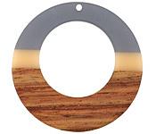 Walnut Wood & Zen Resin Gypsy Hoop Focal 49mm