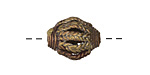 African Brass Braided Open Window (large hole) Rice 19-21x15-17mm