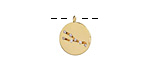 Gold (plated) w/ Crystals Taurus Constellation Charm 11x13mm