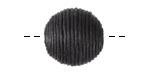 Black Thread Wrapped Bead 18mm
