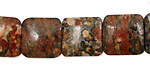Leopardskin Jasper Puff Square 14mm