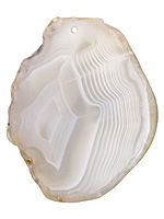 Agate Slice Freeform Pendant 34-46x51-66mm