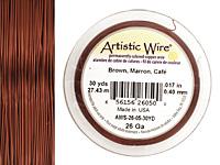 Artistic Wire Brown 26 gauge, 30 yards