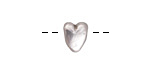 Greek Pewter Heart Bead 9x10mm