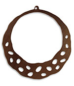 Vintaj Natural Brass Artisan Hoop 47x52mm