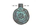 Greek Copper Patina Ancient Floral Medallion Pendant 19x25mm