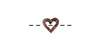 Greek Bronze (plated) Cut Out Heart Bead 6.5mm