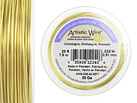 Artistic Wire Silver Plated Champagne 20 gauge, 25 feet