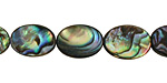 Abalone Flat Oval 14x10mm