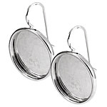 Nunn Design Sterling Silver (plated) Large Circle Frame Earring 21mm