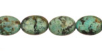 African Turquoise Flat Oval 14x10mm