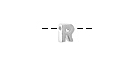 """Sterling Silver Letter """"R"""" Charm Slide 6mm"""