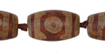 Tibetan (Dzi) Agate Barrel 24x12-14mm