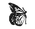 Butterfly Jumbo Rubber Stamp 19x25mm
