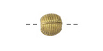 African Brass Strapped Corrugated Round 10-11mm