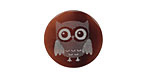 Lillypilly Gray Owl Tab Shell Round Cabochon 20mm