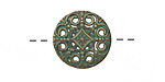 Zola Elements Patina Green Brass Floral Medallion Button 18mm