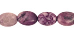 Purple Crazy Lace Agate Flat Oval 14x10mm