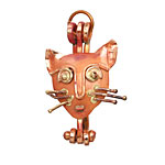 Patricia Healey Copper Cat Face Donut Bail 25x38mm