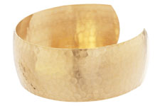 Brass Hammertone Cuff 64x25mm