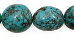 Chinese Turquoise Oval Nuggets 20-29x15-20mm