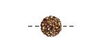 Smoked Topaz Pave (w/ Preciosa Crystals) Round 10mm