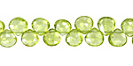 Peridot Faceted Flat Teardrop 6-7mm