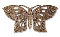 Vintaj Natural Brass Butterfly Element 58x29mm