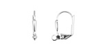 Silver (plated) Leverback Petal Earring w/ Open Loop 11x14mm