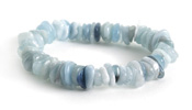 Aquamarine Chips Stretch Bracelet