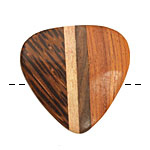 Wood Inlay Triangular Pendant 36-38x37-39mm