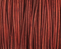 Natural Turkey Red Round Leather Cord 1.5mm
