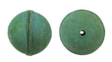 Natural Sea Green Leather Round Bead 26-29mm