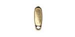 Antique Brass (plated) Small Rectangular Charm Holder 10mm Flat Cord Slide 5x15mm