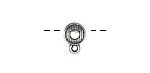 Zola Elements Antique Silver (plated) Coin Bead w/ Charm Loop 9x12mm