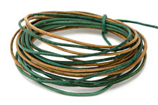 Natural Beryl Leather Cord 1.5mm