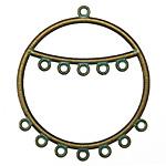 Zola Elements Patina Green Brass Chandelier 2-Tier Hoop 41x47mm