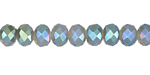 White Opal w/ Blue AB Luster Crystal Faceted Rondelle 8mm